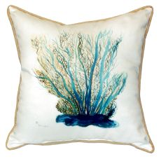 Blue Coral Extra Large Zippered Pillow 22X22