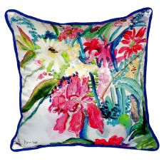 Multi Florals Extra Large Zippered Pillow 22X22