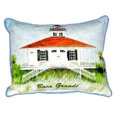 Boca Grande Lighthouse Extra Large Zippered Pillow 20X24