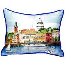 Annapolis City Dock Extra Large Zippered Pillow 20X24