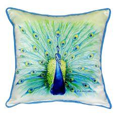 Peacock Extra Large Zippered Pillow 22X22
