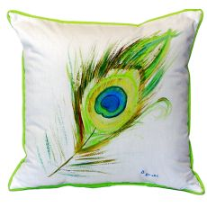 Peacock Feather Extra Large Zippered Pillow 22X22