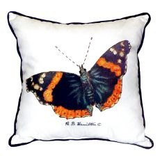Red Admiral Butterfly Extra Large Zippered Pillow 22X22