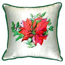 Poinsettia Extra Large Zippered Pillow 22X22