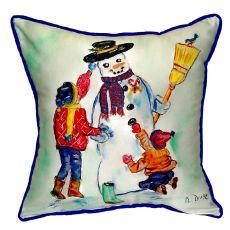 Snowman Extra Large Zippered Pillow 22X22