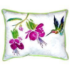 Purple Hummingbird Extra Large Zippered Pillow 20X24