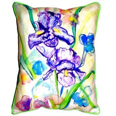 Two Irises Extra Large Zippered Pillow 20X24