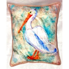Pelican On Rice Extra Large Zippered Pillow 20X24