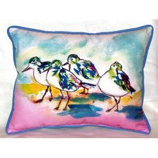 Pink Sanderlings Extra Large Zippered Pillow 20X24