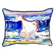 Horse & Surf Extra Large Zippered Pillow 20X24