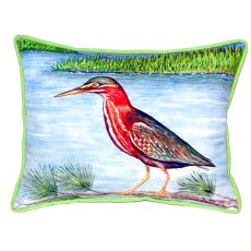 Green Heron Ii Extra Large Zippered Pillow 20X24