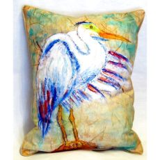 Egret On Rice Extra Large Zippered Pillow 20X24