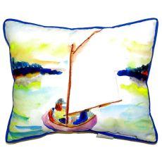 Pink Sailboat Extra Large Zippered Pillow 20X24