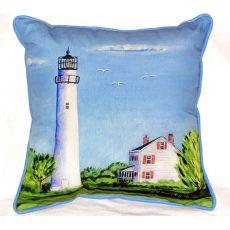 Fenwick Island Light House Extra Large Zippered Pillow 22X22