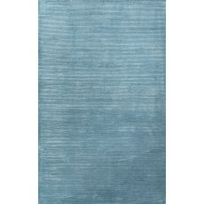 Luxury Stripes Pattern Blue Wool And Art Silk Area Rug (9X12)