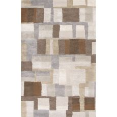 Contemporary Abstract Pattern Gray/Brown Wool and Art Silk Area Rug (9x12)