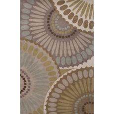 Contemporary Medallion Pattern Gray/Ivory Wool Area Rug (8X10)