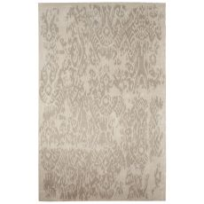 Contemporary Abstract Pattern Ivory/Tan Wool And Art Silk Area Rug (8X10)