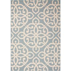 Damask Pattern Polypropylene Bloom Area Rug