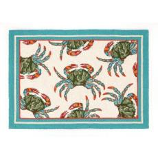 Blue Crab Hooked Rug