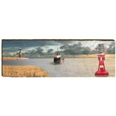 Boat and Buoy Wood Wall Art