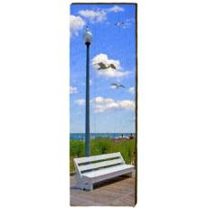 Beach Bench With Lamp Post Wall Art