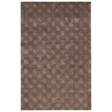Contemporary Abstract Pattern Gray Wool And Art Silk Area Rug (9.6X13.6)