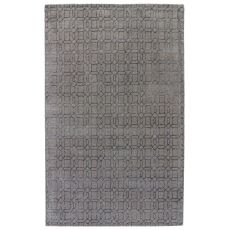 Geometric Pattern Wool And Viscose Baroque Area Rug