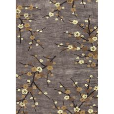 Floral & Leaves Pattern Polyester Brio Area Rug