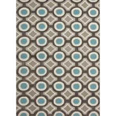 Geometric Pattern Polyester Brio Area Rug