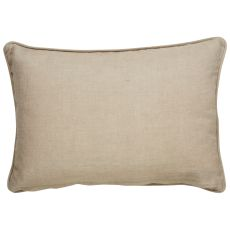 """Traditional & Classic Pattern Yellow/Ivory Linen And Polyester Down Fill Pillow ( 16""""X24"""")"""