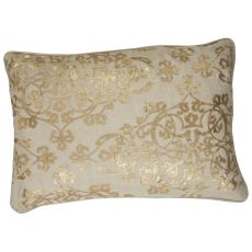 Traditional & Classic Pattern Linen And Polyester Bruxelle Down Fill Pillow