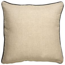 """Traditional & Classic Pattern Gray/Ivory Linen And Polyester Down Fill Pillow ( 20""""X20"""")"""