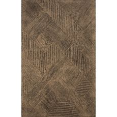 Contemporary Tribal Pattern Taupe/Tan Wool Area Rug (8X10)