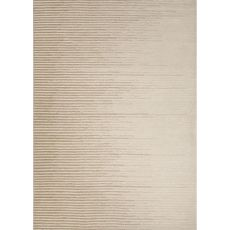 Contemporary Abstract Pattern Ivory/White Wool Area Rug (8X10)