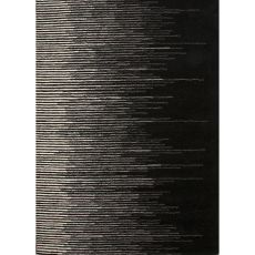 Contemporary Abstract Pattern Black/Gray Wool Area Rug (9X12)