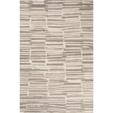 Contemporary Abstract Pattern Beige/Gray Wool Area Rug (8x10)
