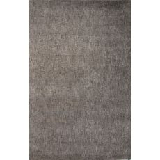 Solids Solids & Heather Pattern Gray/Taupe Wool And Art Silk Area Rug (9X12)