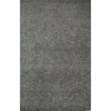 Solids Solids & Heather Pattern Blue/Gray Wool And Art Silk Area Rug (9X12)
