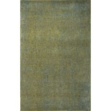 Solids Solids & Heather Pattern Green/Blue Wool And Art Silk Area Rug (9X12)