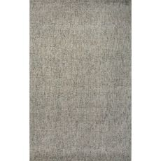 Solids Solids & Heather Pattern Taupe/Blue Wool And Art Silk Area Rug (9X12)