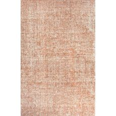 Solids Solids & Heather Pattern Ivory/Orange  Wool Area Rug (8X10)