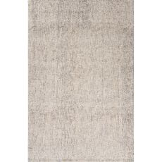Solids Solids & Heather Pattern Ivory/Gray Wool Area Rug (9X12)