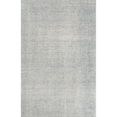 Solids Solids & Heather Pattern Ivory/Blue Wool Area Rug (9X12)