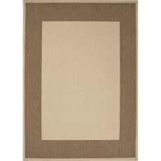 Indoor/Outdoor Border Pattern Taupe/Brown Polypropylene Area Rug (7.11X10)