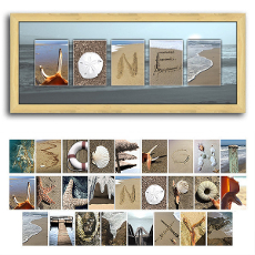 Beach Letters Name Art