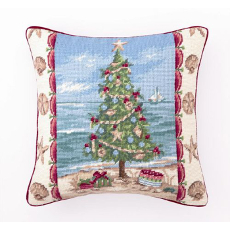 Beach Christmas Pillow I