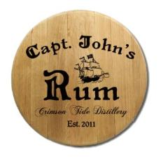 Capt. John'S Rum Barrel Sign Personalized