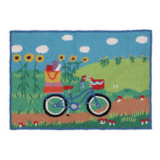 Going Places Bicycle Hook Rug