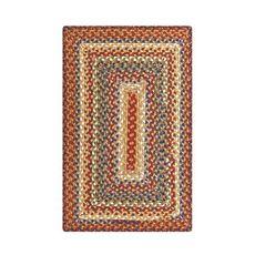 Homespice Decor 5' x 8' Rect. Biscotti Cotton Braided Rug